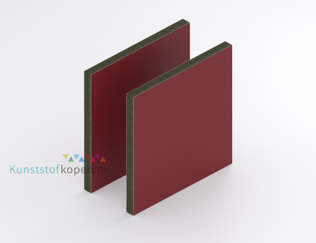 HPL Exterieur Rood 6 mm RAL 3004